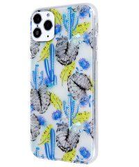 Θήκη Σιλικόνης Blue Cactus Pattern iPhone 11 pro iPhone 11 Pro