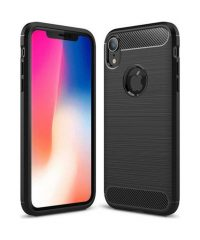 Carbon Back Cover Σιλικόνης Μαύρο iPhone Xr iPhone XR
