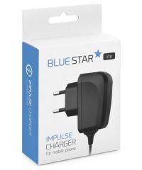 Blue Star USB Type-C Cable & USB Wall Adapter Μαύρο 2A  (Lite) TYPE C