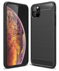 Carbon Back Cover Σιλικόνης Μαύρο iPhone 11 iPhone 11