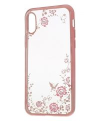 Θήκη Σιλικόνης Diamond Garden Ρόζ-χρυσό iphone X/Xs iPhone X / XS