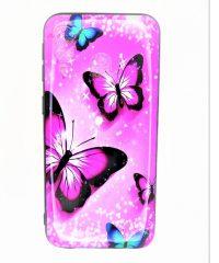 Θήκη Σιλικόνης Πεταλούδα ρόζ Samsung Galaxy A40 Samsung Galaxy A40