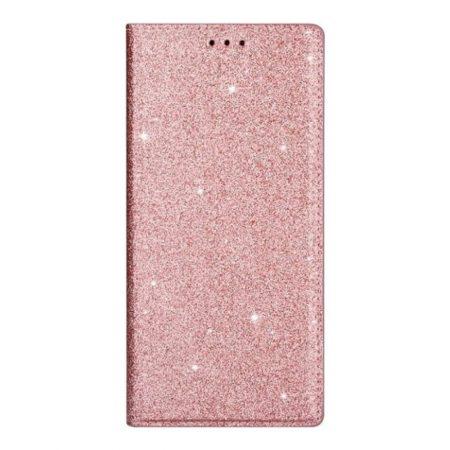 Glitter Magnetic  Book stand ρόζ-χρυσό Samsung Galaxy A41 SAMSUNG GALAXY A41