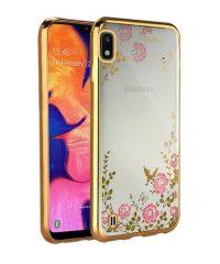 Θήκη Σιλικόνης Diamond Garden χρυσή  Samsung Galaxy A10 Samsung Galaxy A10