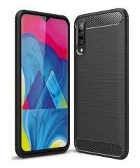 Carbon Back Cover Σιλικόνης Μαύρο Galaxy A50/A30s Samsung Galaxy A30s / A50 / A50s