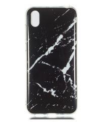 Θήκη σιλικόνης μάρμαρο μαύρη iphone Xr iPhone XR