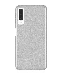 Θήκη σιλικόνης χρυσόσκονη ασημί Samsung Galaxy A7 2018 SAMSUNG GALAXY A7 2018