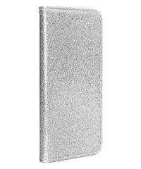 Glitter Magnetic Book Stand Case ασημί iPhone X/Xs iPhone X / XS