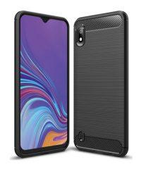 Carbon Back Cover Σιλικόνης Μαύρο Samsung Galaxy A10 Samsung Galaxy A10
