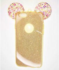 Θήκη Σιλικόνης αυτάκια χρυσό iphone 6/6s iPhone 6 / 6S