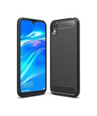 Carbon Back Cover Σιλικόνης Μαύρο (Huawei Y5 2019) Huawei Y5 2019