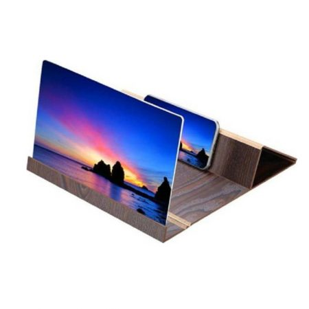 Mobile Stand 3D Screen Magnifier Καφέ Gadget