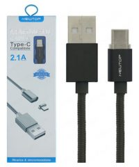 Newtop Magnetic USB 2.0 Cable USB-C male – USB-A male Μαύρο 1m 2.1A TYPE C