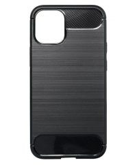 Carbon Back Cover Σιλικόνης Μαύρο iPhone 12 / 12 Pro iphone 12/12pro