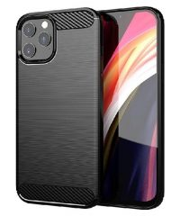 Carbon Back Cover Σιλικόνης  Μαύρο iPhone 12 Pro Max iPhone 12 pro max