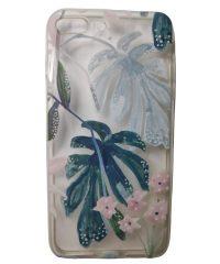 Θήκη Σιλικόνης σχέδιο flower tropical iPhone 7/8 Plus iPhone 7 Plus