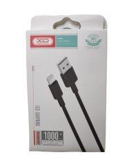 XO-NB156 LIGHTNING USB CABLE Μαύρο 5V/2,4A IPHONE