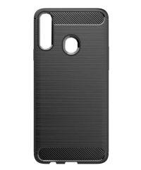 Carbon Back Cover Σιλικόνης Μαύρο Samsung Galaxy A20s SAMSUNG GALAXY A20S