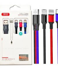 XO NB143 3 in 1 braided data cable 1.2M IPHONE