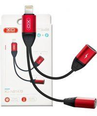 XO NB147B audio adapter lighting to jack 3.5mm Gadget
