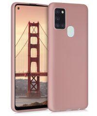 Θήκη σιλικόνης Ρόζ-χρυσό Samsung Galaxy A21s SAMSUNG GALAXY A21S