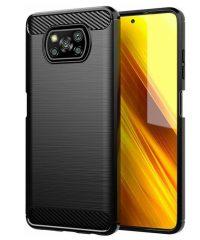 Carbon Back Cover Μαύρο For Xiaomi Poco X3 NFC/ Poco X3 Xiaomi Poco X3