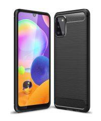 Carbon Back Cover Μαύρο For Samsung Galaxy A31 SAMSUNG GALAXY A31