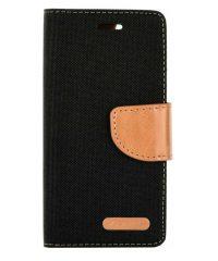 Canvas Book case Μαύρο Samsung Galaxy A12 SAMSUNG GALAXY A12