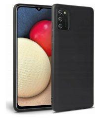 Θήκη σιλικόνης Μαύρη Samsung Galaxy A02s SAMSUNG GALAXY A02S
