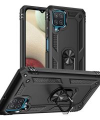 Armor Case 360 Metal Rotating Ring-Car Holder Μαύρο Samsung Galaxy A12 SAMSUNG GALAXY A12