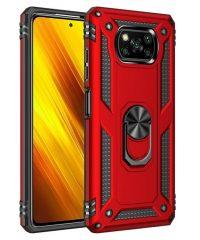 Armor Case 360 Metal Rotating Ring-Car Holder Κόκκινο For Xiaomi Poco X3 NFC/ Poco X3 Xiaomi Poco X3