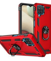 Armor Case 360 Metal Rotating Ring-Car Holder Κόκκινη Samsung Galaxy A12 SAMSUNG GALAXY A12